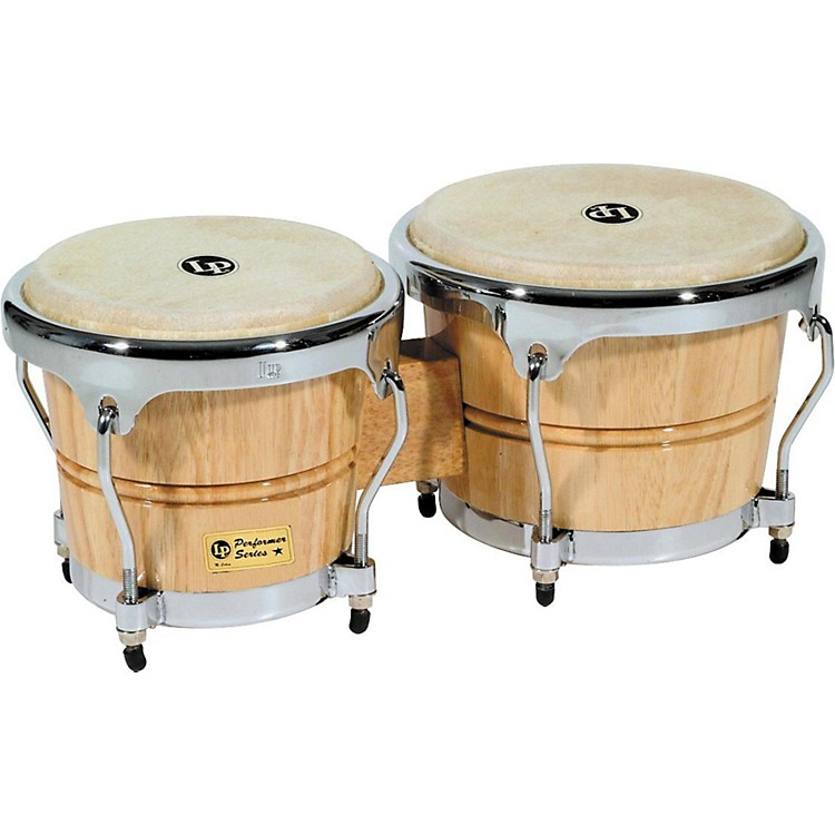LP Performer Series Bongos with Chrome Hardware Natural