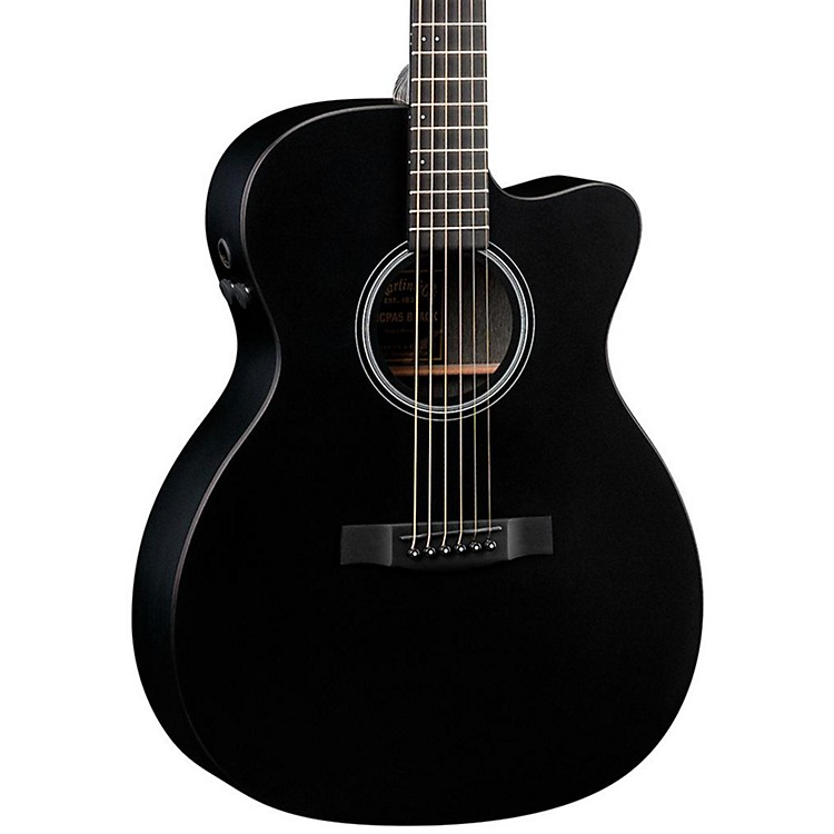 Martin Performing Artist OMCPA5 Cutaway Orchestra Model Acoustic-Electric Guitar Black