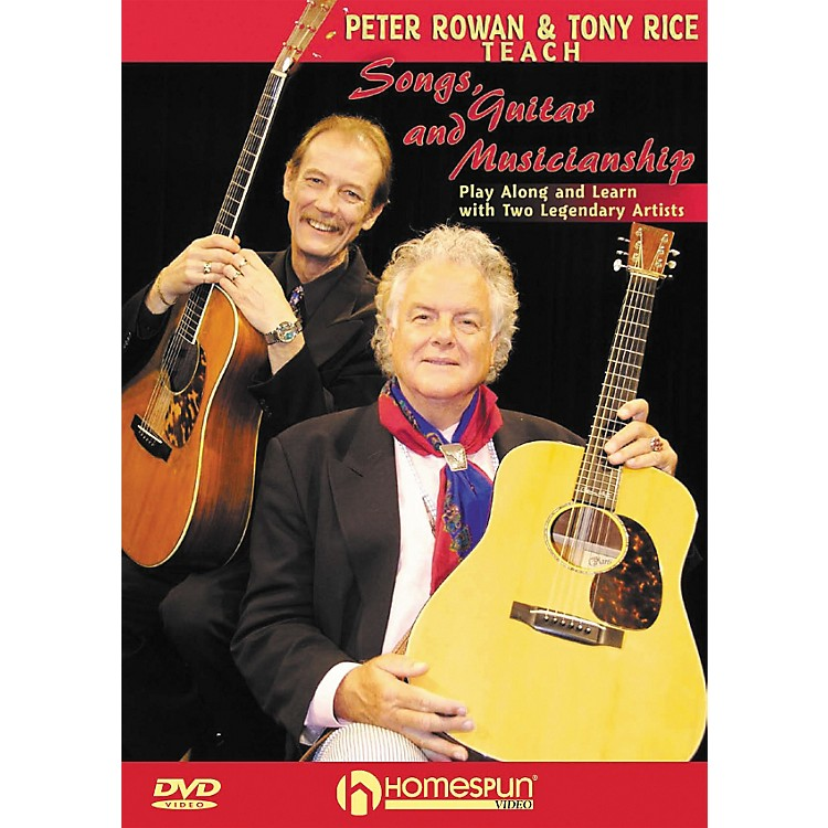 Homespun Peter Rowan & Tony Rice Teach Songs, Guitar, & Musicianship DVD with Tab