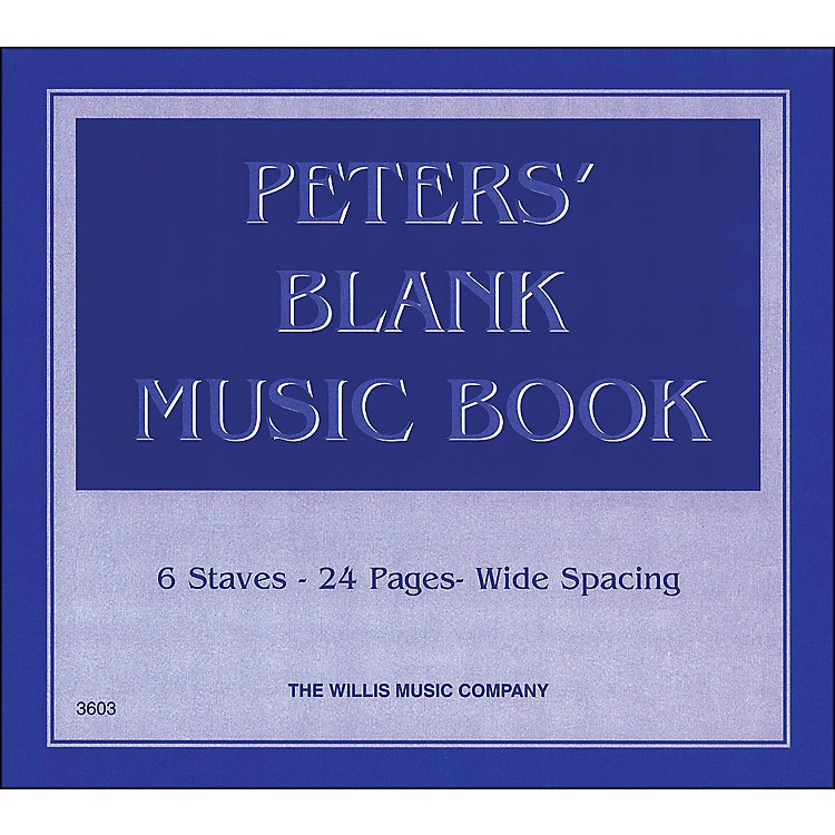 Willis MusicPeters' Blank Music Book 1