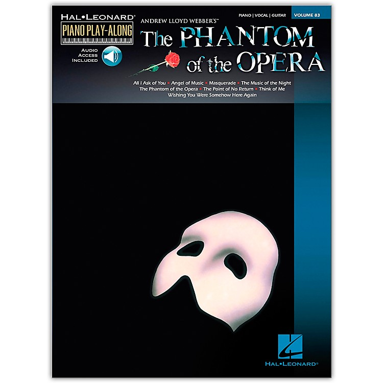 Hal Leonard Phantom Of The Opera - Piano Play-Along Volume 83 (CD/Pkg) arranged for piano, vocal, and guitar (P/V/G)