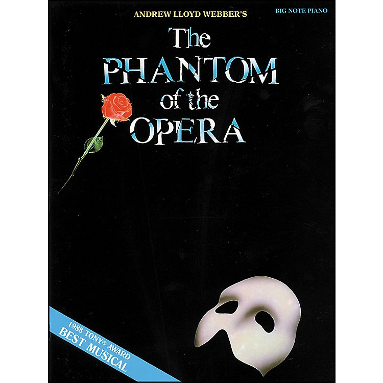 Hal Leonard Phantom Of The Opera for Big Note Piano