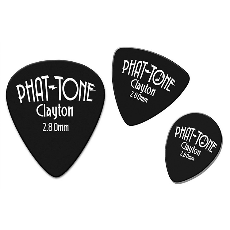 ClaytonPhat-Tone Rounded Triangle Rubber Picks 3-Picks
