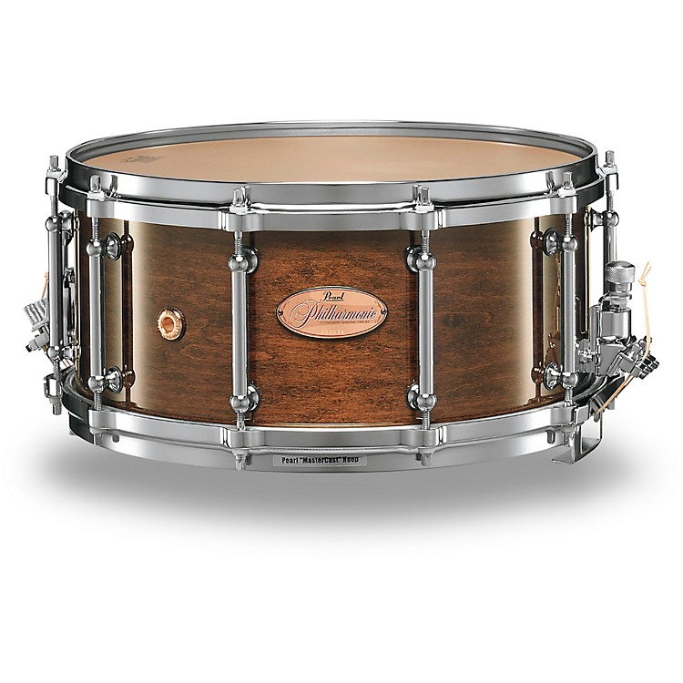Pearl Philharmonic 6-Ply Maple Snare Drum High Gloss Walnut Bordeaux 14x4