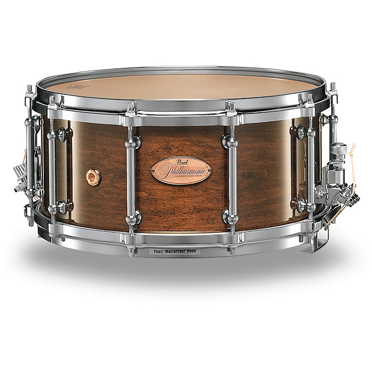 Pearl Philharmonic 6-Ply Maple Snare Drum High Gloss Walnut Bordeaux 14x8