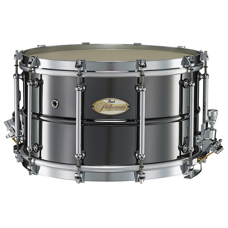 Pearl Philharmonic Brass Snare Drum Black Nickel 14x8