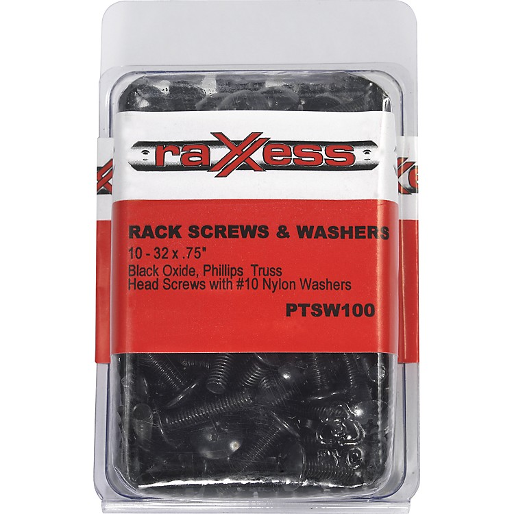 Raxxess Phillips Head Rack Screws with Washers  100-Pack