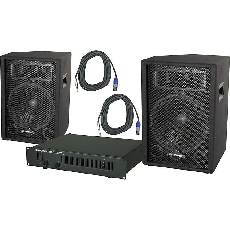 PhonicPhonic S712 / MAX 1000 Speaker and Amp Package