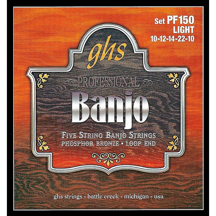 GHS Phosphor Bronze 5-String Banjo Strings Light
