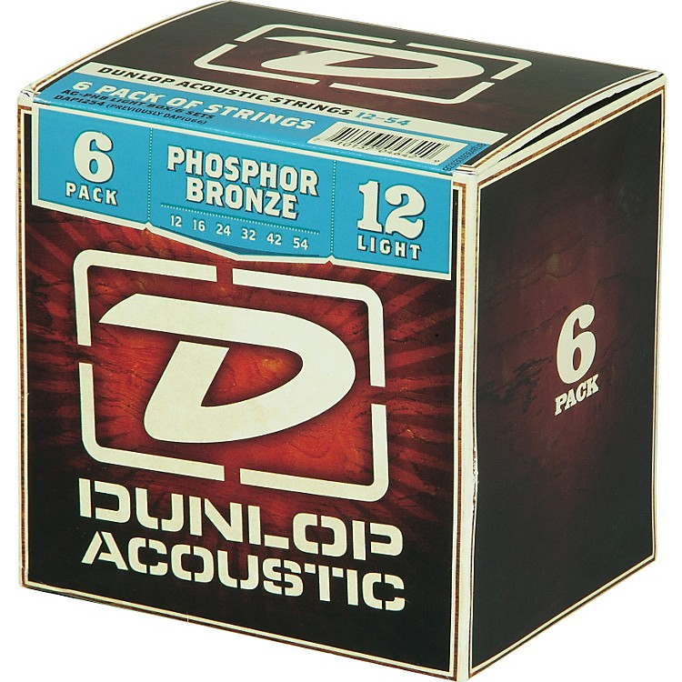 Dunlop Phosphor Bronze Acoustic Guitar Strings Light 6-Pack