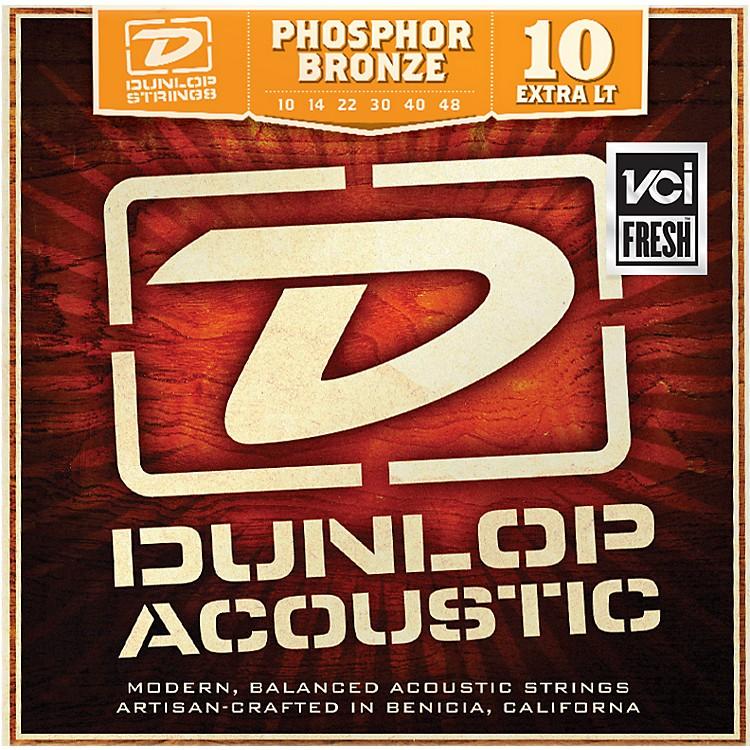 DunlopPhosphor Bronze Extra Light Acoustic Guitar Strings