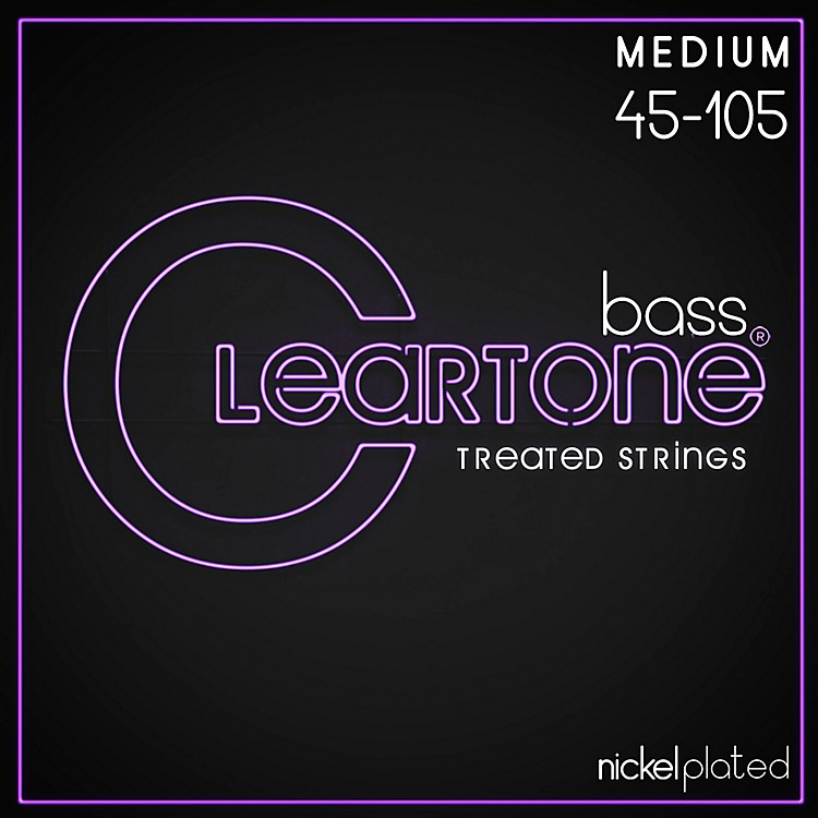 Cleartone Phosphor-Bronze Medium Electric Bass Guitar Strings