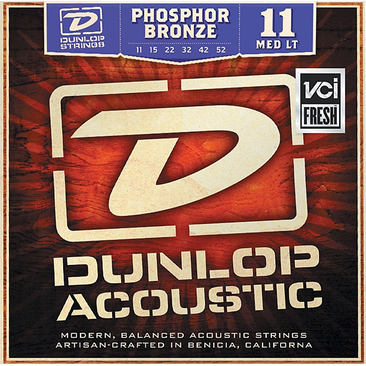 Dunlop Phosphor Bronze Medium Light Acoustic Guitar Strings