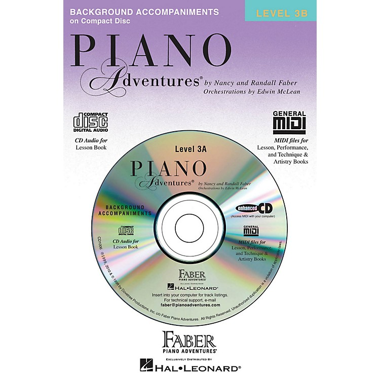 Faber Music Piano Adventures CD for Lesson Level 3B - Faber Piano