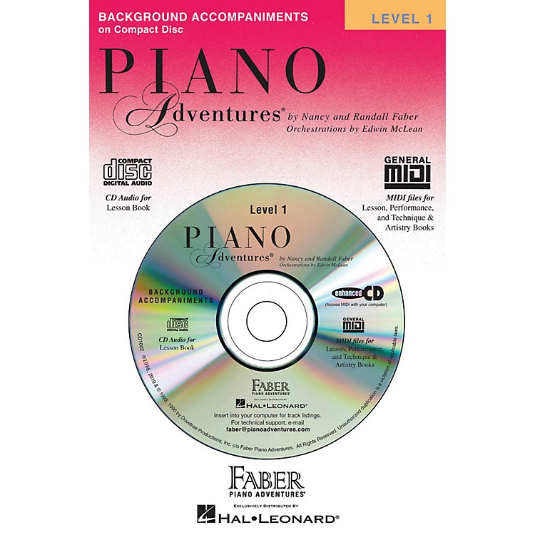 Faber Music Piano Adventures Lesson CD Level 1 with Practice And Performance Tempos - Faber Piano