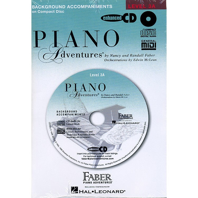 Faber Music Piano Adventures Lesson CD for Level 3A with Practice And Performance Tempos - Faber Piano