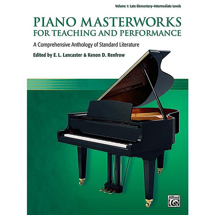 AlfredPiano Masterworks for Teaching and Performance, Volume 1 - Late Elementary / Intermediate