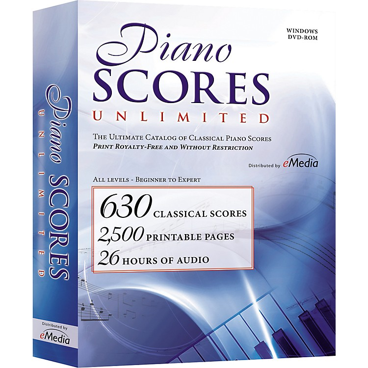 Emedia Piano Scores Unlimited Software DVD