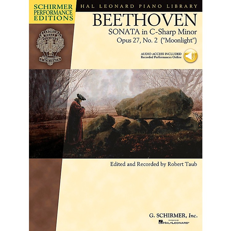G. Schirmer Piano Sonata In C Sharp Minor Opus 27 No 2 Book/CD (Moonlight) By Beethoven / Taub