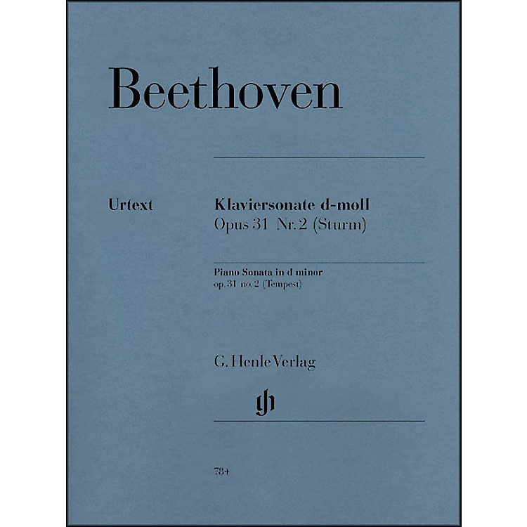 G. Henle VerlagPiano Sonata No. 17 in D Minor Op. 31 Tempest Sonata By Beethoven