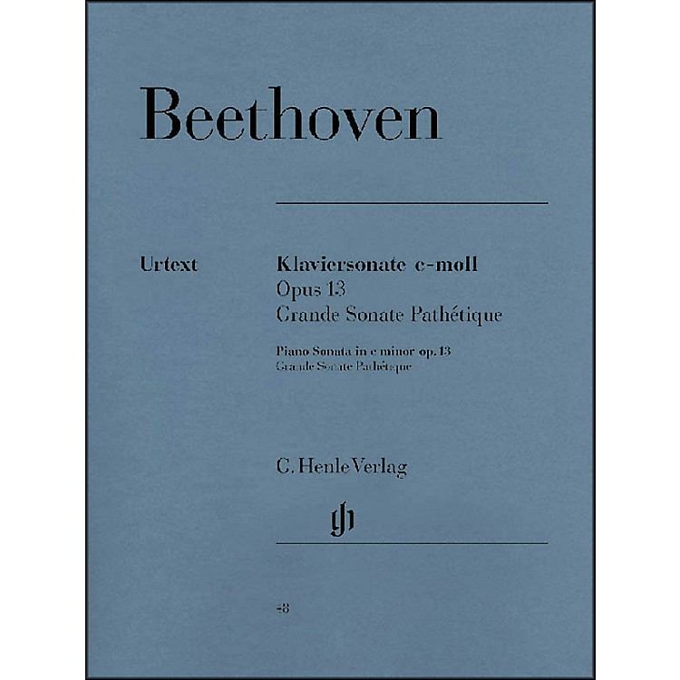G. Henle Verlag Piano Sonata No. 8 in C minor Op. 13 [Grande Sonata Pathtique] By Beethoven