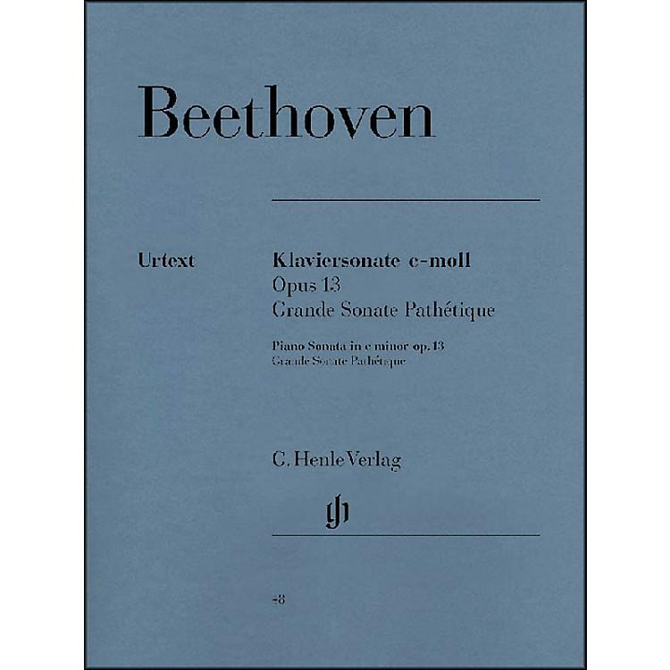 G. Henle VerlagPiano Sonata No. 8 in C minor Op. 13 [Grande Sonata Pathtique] By Beethoven