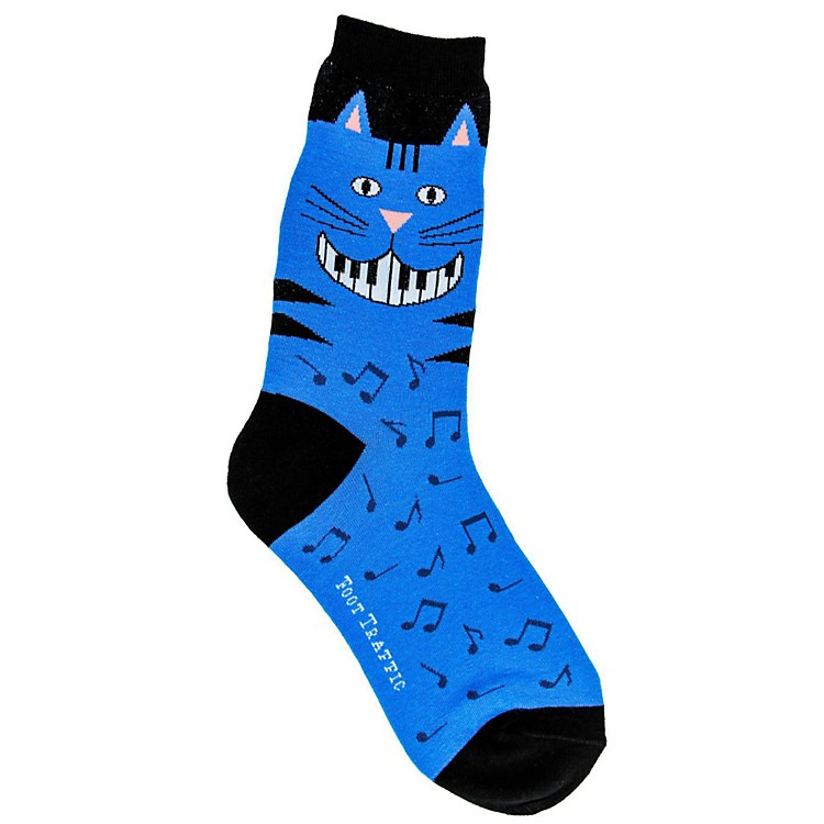 Foot Traffic Piano Teeth Womens Socks