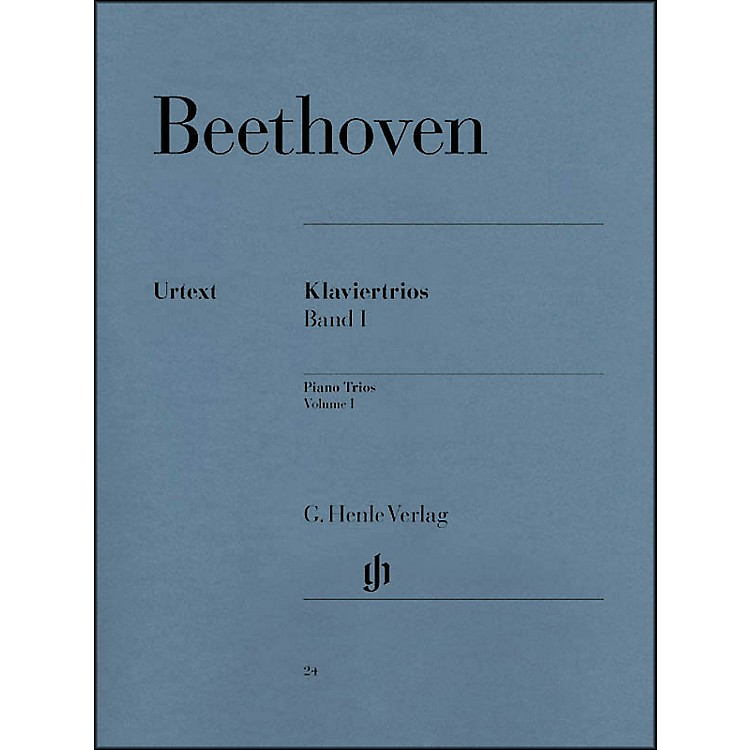 G. Henle Verlag Piano Trios - Volume I By Beethoven