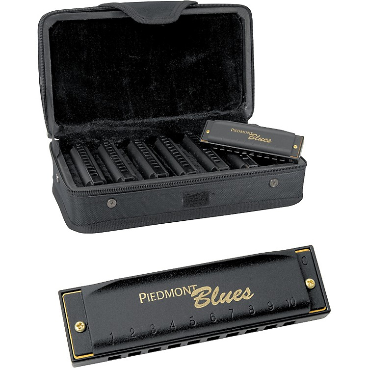 HohnerPiedmont Blues 7-Harmonica Pack with Case