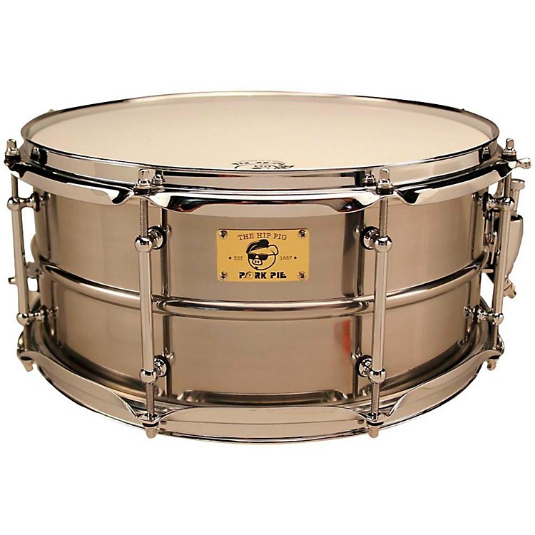 Pork PiePig Iron Snare Drum14x6.5 in.Polished Raw