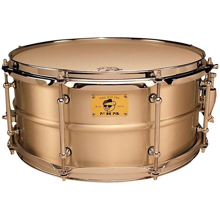 Pork PiePig Iron Snare Drum14x6.5 in.Tin Plated Satin