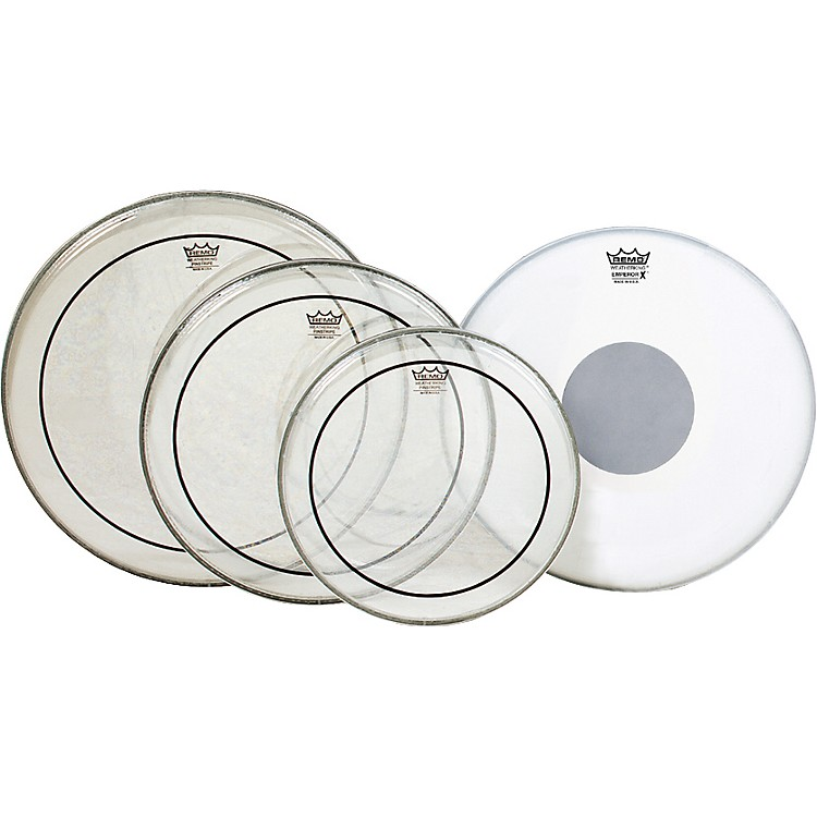 Remo Pinstripe Value Pack with Emperor X Coated Snare Head