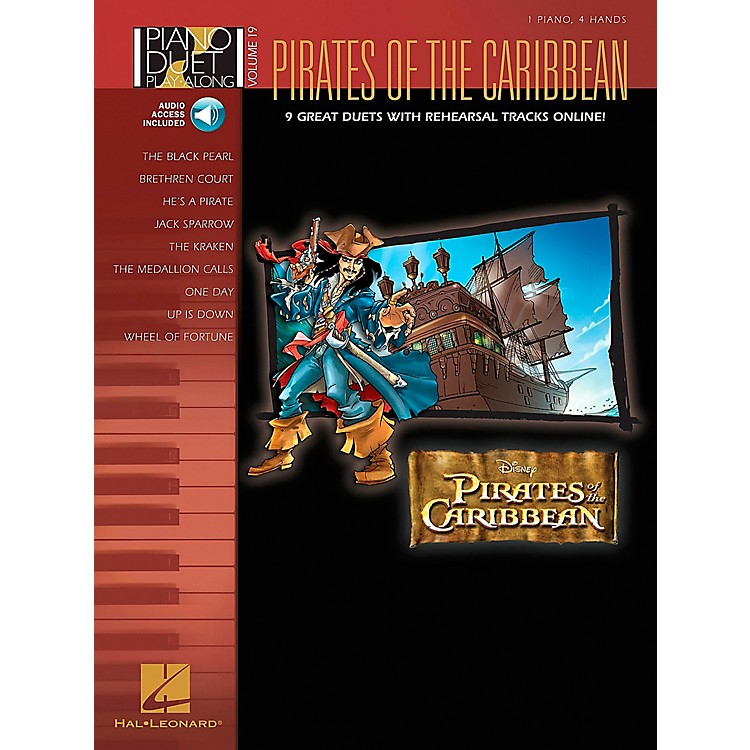 Hal Leonard Pirates Of The Caribbean - Piano Duet Play-Along Volume 19 (CD/Pkg)