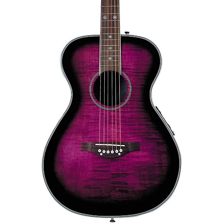Daisy RockPixie Acoustic/Electric Guitar Left-HandedPlum Purple Burst