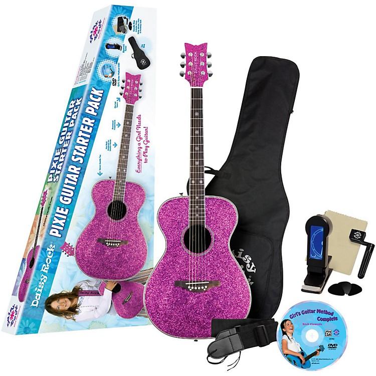 Daisy RockPixie Acoustic-Electric Guitar Starter Pack (Pink Sparkle)Pink Sparkle
