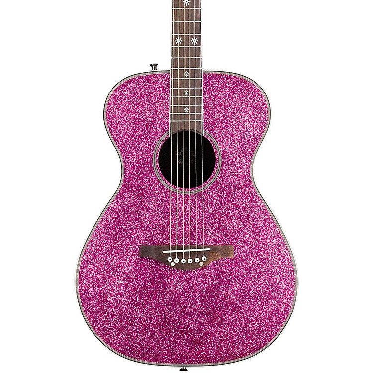 Daisy Rock Pixie Acoustic Guitar Pink Sparkle