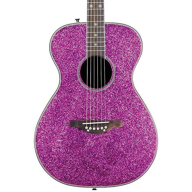 Daisy RockPixie Spruce Top Acoustic-Electric GuitarPink Sparkle