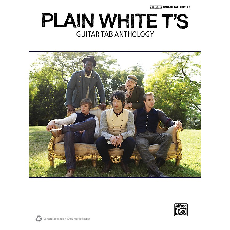 Alfred Plain White T's Guitar TAB Anthology Book