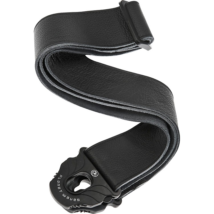 Planet Waves Planet Lock Leather Guitar Strap Black