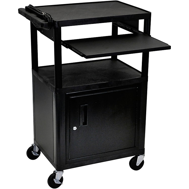 H. WilsonPlastic Cart with Pullout Keyboard Tray