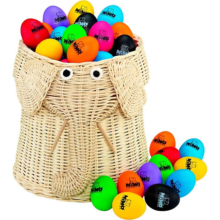 Nino Plastic Egg Shaker 80 Piece Assortment with Basket