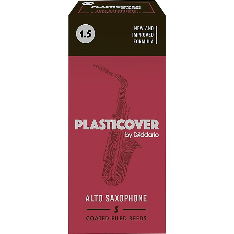 Rico Plasticover Alto Saxophone Reeds Strength 1.5 Box of 5
