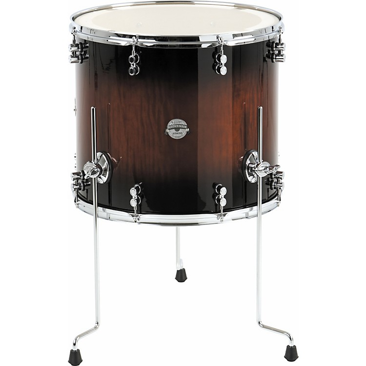 Pdp platinum exotic floor tom 16 x 14 in tobacco to black for 16x14 floor tom