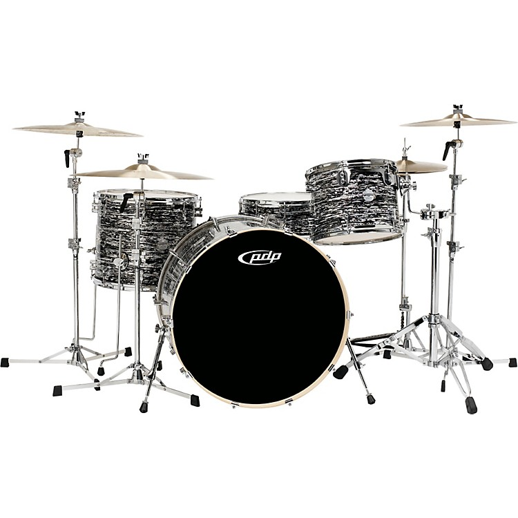 PDPPlatinum Finishply Bass Drum with Tom Mount18X22Black Oyster Sparkle