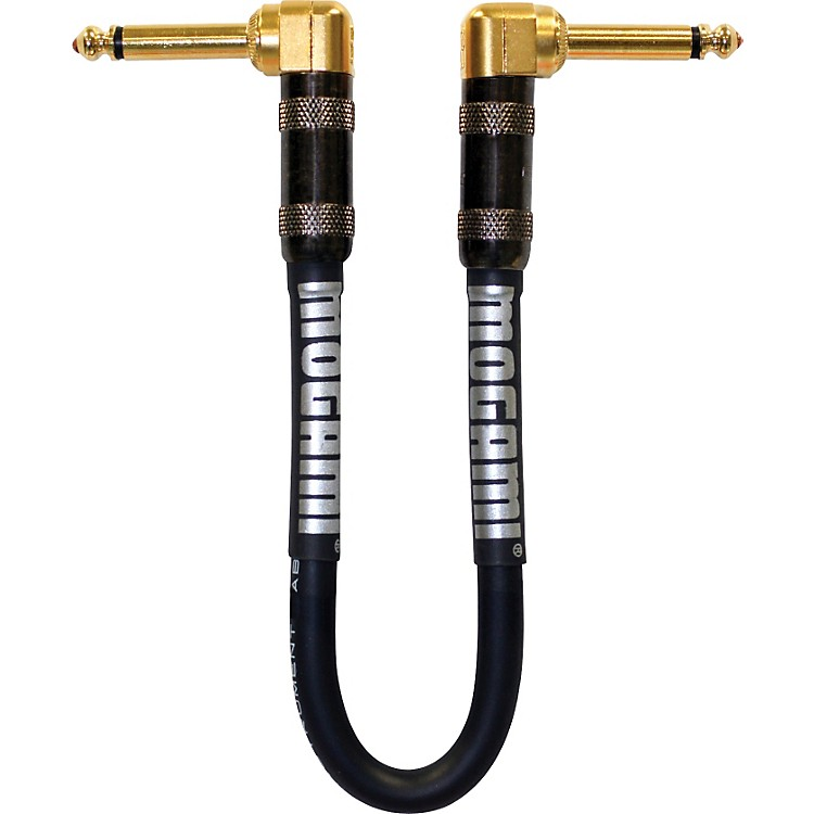 Mogami Platinum Guitar Patch Cable with Right Angle Connectors 11 Inches Right Angle To Right Angle