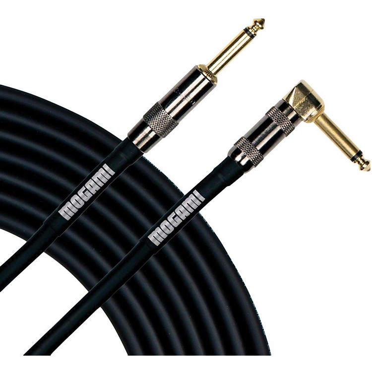 MogamiPlatinum Instrument Cable with Right Angle to Straight End Connectors20 ft.Right Angle to Straight