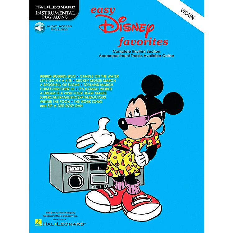 Hal Leonard Play-Along Disney Favorites Book with CD Violin Violin