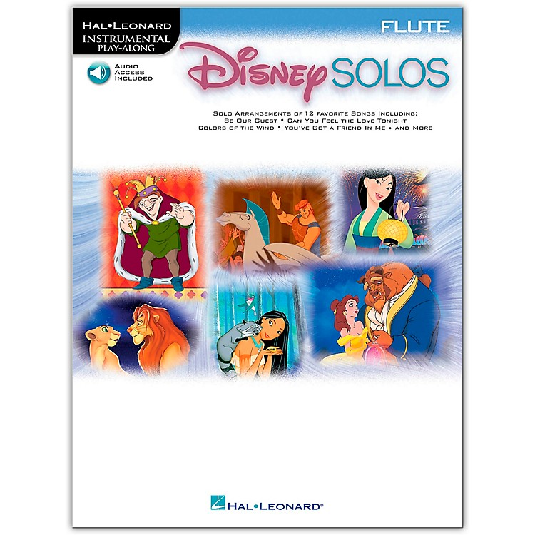 Hal Leonard Play-Along Disney Solos Book with CD Flute