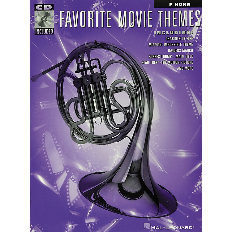 Hal Leonard Play-Along Favorite Movie Themes Book with CD French Horn French Horn