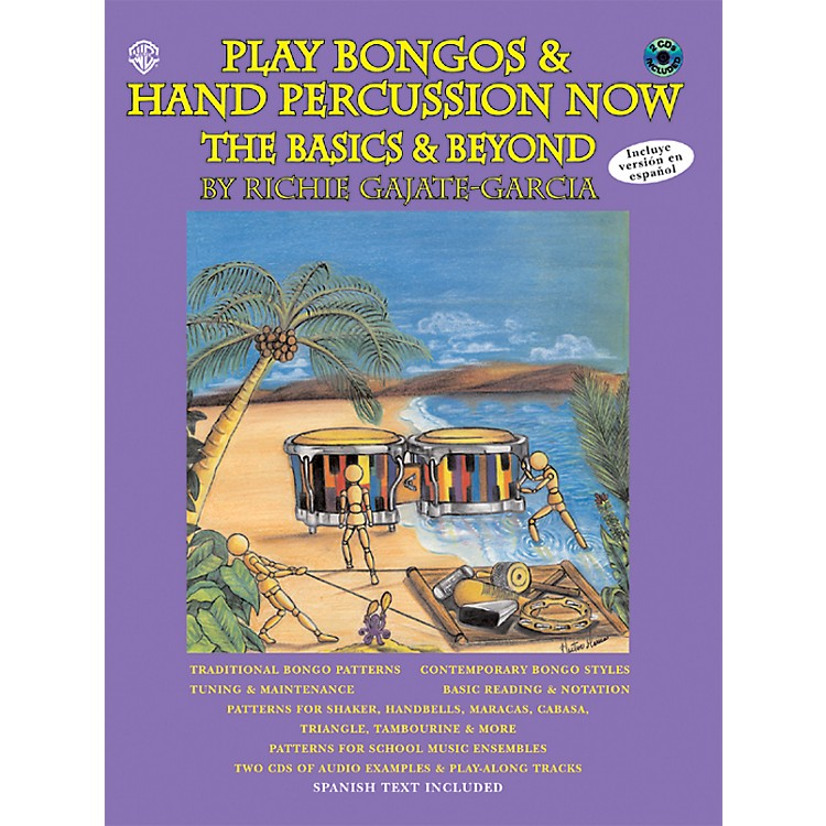AlfredPlay Bongos and Hand Percussion Now - Book and 2-CD Set